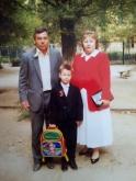 Максим Чечнев с родителями